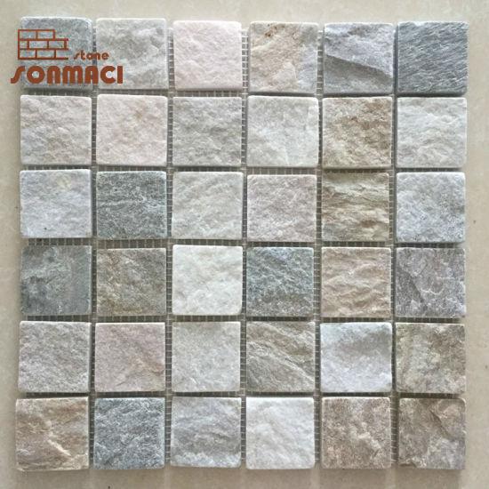 Mixed Stone Square Mosaic Tiles