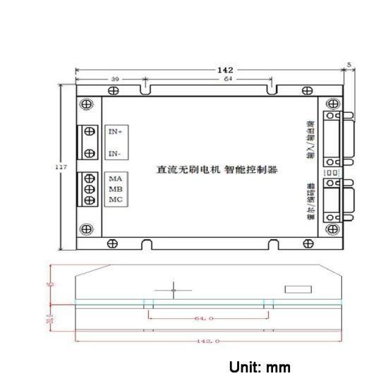 Sine Wave Brushless DC BLDC Motor Controller 48V 75A DC Motor Speed  Controller