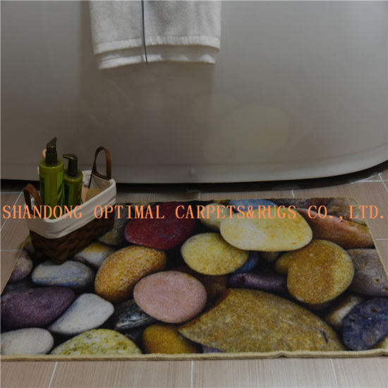Nylon Loop Pile Rubber Bathroom Mat