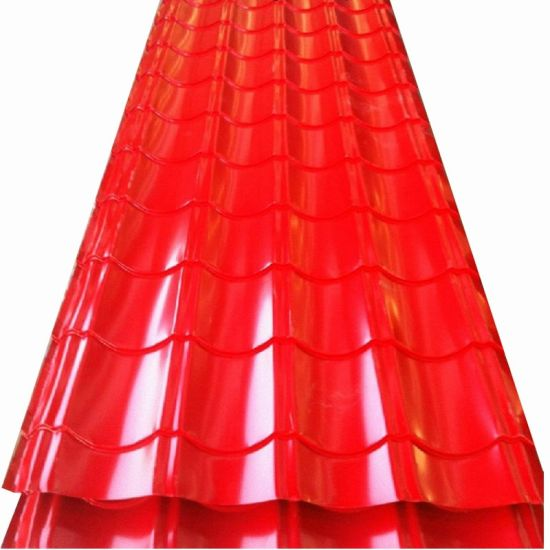 Roofing Material PPGI Corrugated Steel Color Coated Iron Metal Roof Sheet