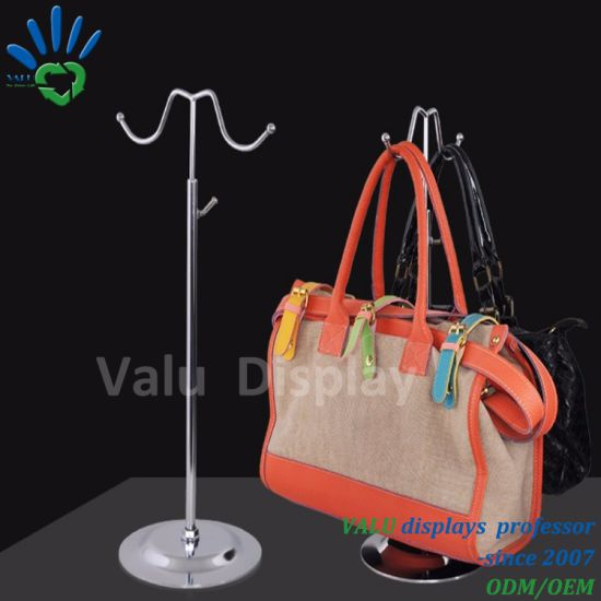 China Stainless Steel Handbag Bag Hanging Rack Table Holder Display ... 3fdd44284463f