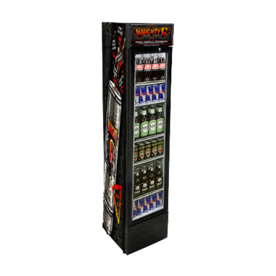 Tall Beverage Refrigerator with Glass Door