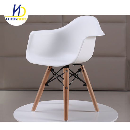 Fabulous Kids Size Armchair Chair Plastic Seat Natural Wood Wooden Legs Childrens Room Chairs Molded Plastic Chair Machost Co Dining Chair Design Ideas Machostcouk