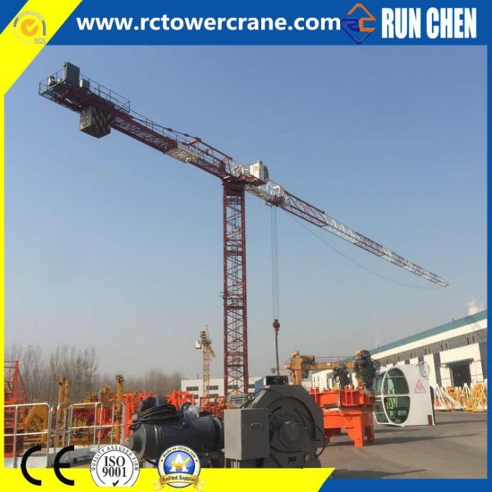 Topless/ Flat Top Inner Climbing/ Travelling/Self Erecting Tower Crane for Construction