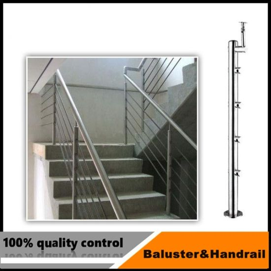 Stair Position Railings With Cross Bar Holder