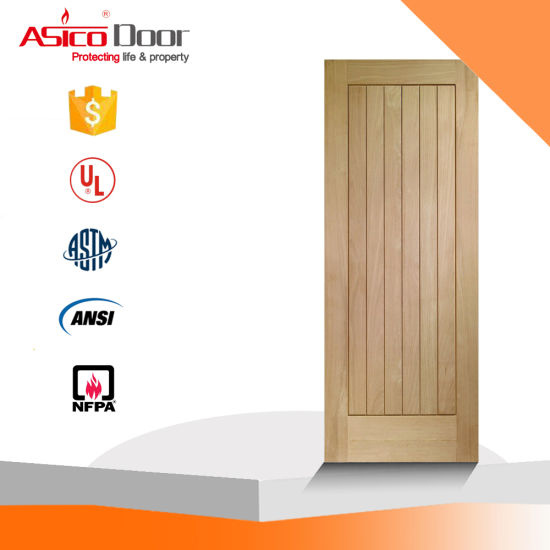 China UL Certified Wooden Door with Steel Door Frame - China Door ...