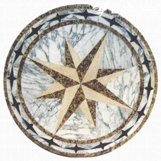medallion pattern marble product cat water space stone medallions jet list flooring