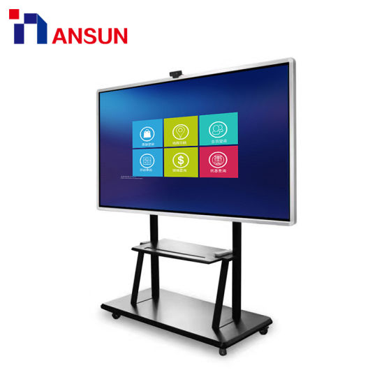 Free Standing 55 70 84 Inch Digital Interactive Touch Screen Smart Writing Board for Education
