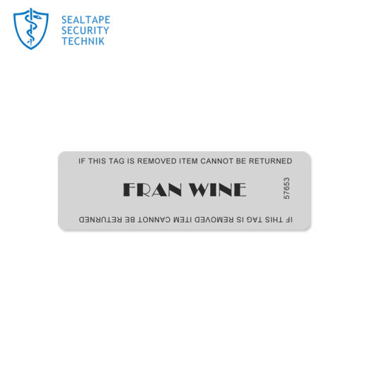 Printing Matte Paper Indicating Seals Void Silver Tamper Proof Anti Theft  Evident Transparent Labels Sticker