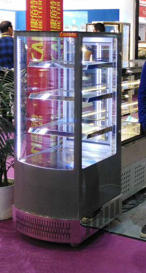 China All Sides Glass Door Display Beverage Cooler Commercial