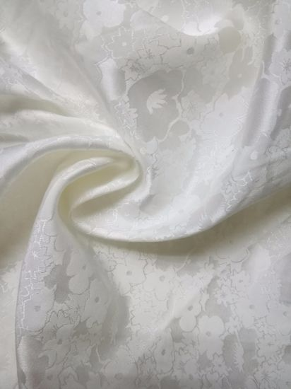 Silk Cotton Inerweave Satin Bleached Woven pictures & photos