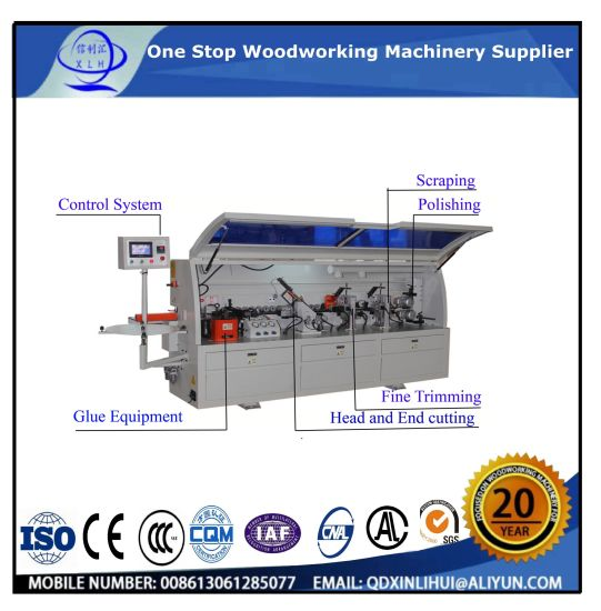 Chinese Manufacture Fine Finishing Wood Machine Woodworking Tool of Edge Banding Machine with Heating Press for PVC, Wood Veneer, Wood Grained Paper pictures & photos