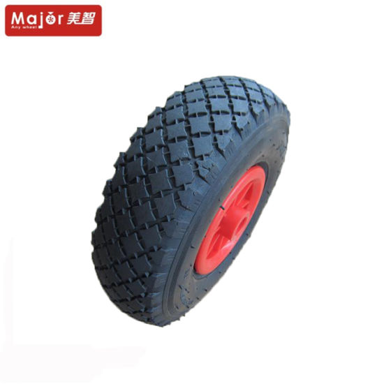 3.00-4 Flat Free PU Foam Wheelbarrow Wheel with Roller Bearing pictures & photos