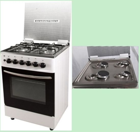 4 Burner Free Standing Gas Cooker with Oven