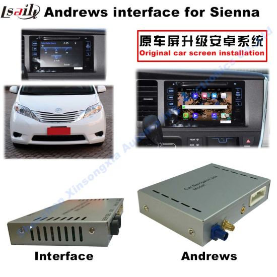 Toyota Sienna OEM Nav Android Video Interface 2016 with Android 4.4 pictures & photos