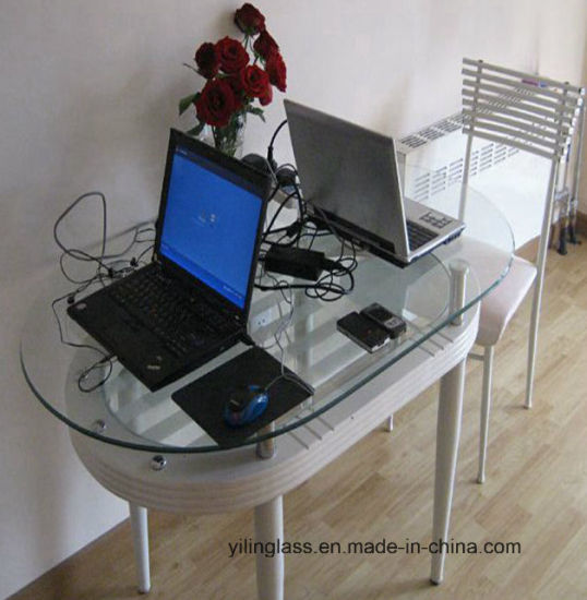 Clear Tempered Glass Study Table