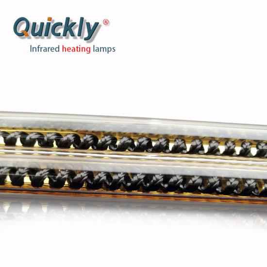 Gold Reflector IR Heater Infrared Halogen IR Bulb  Carbon Fiber IR Lamp