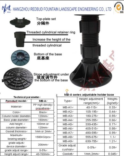 Adjustable Supporting Column for Cover Plate of Dryland Fountain pictures & photos