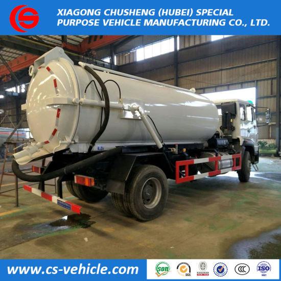 HOWO 10000liters 4X2 10m3 Vacuum Sewage Suction Tanker Trucks for Sale