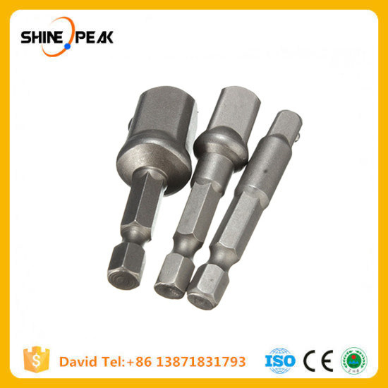 "3PCS 1/4"" 3/8"" 1/2"" Hex Wrench Sleeve Extension Bar Drive Power Drill Bit Socket Driver Adapter Set 1/4′′ 3/8′′ 1/2′′& 50mm Long pictures & photos"