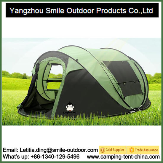 Trade Show 3 Person Family Folding Pop up Camping Tent