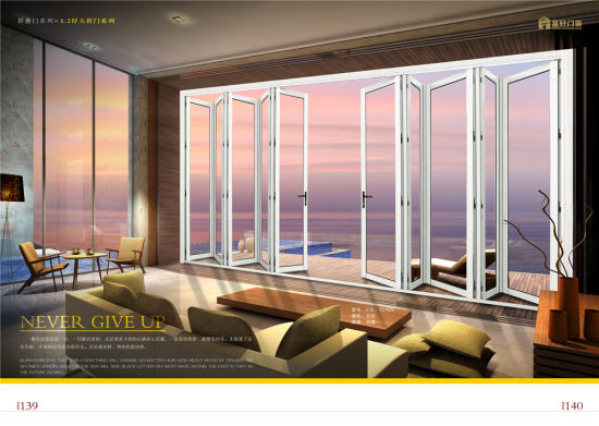Aluminium Alloy Folding Door with Double Tempered Glass pictures & photos