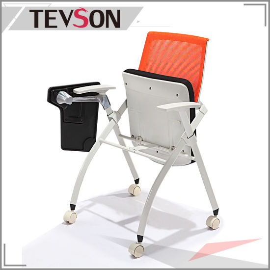 Fashion And Modern Office Training Folding Chair With Writing Tablet