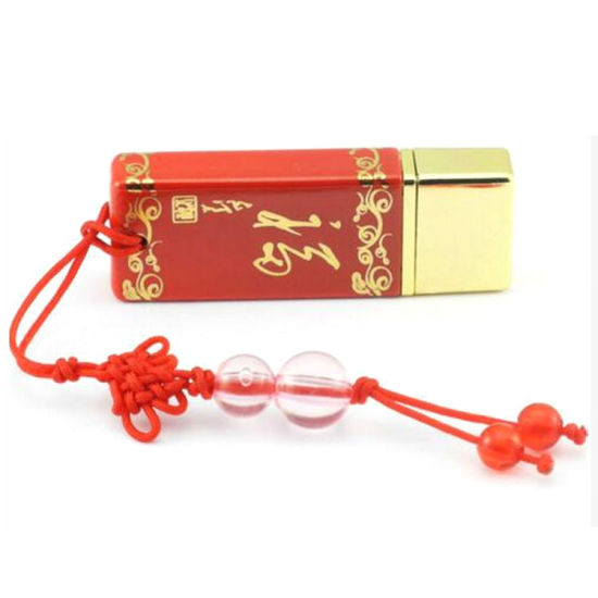 New Ceramic USB Flash Drive Chinese Red Blessing U Disk pictures & photos