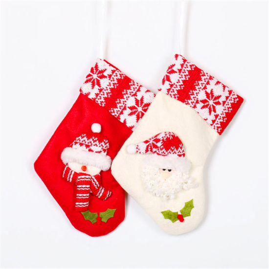 Fancy Felt Christmas Home Decoration Plain Stocking