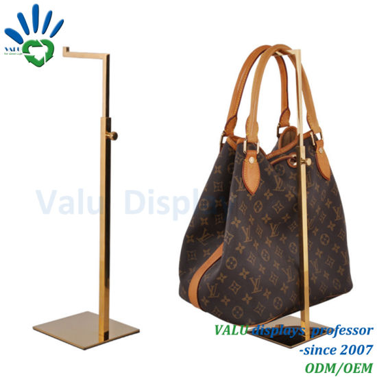 Rose Golden Metal Adjustable Bag Holder Lady Handbag Bag Display Stand f0eed580d28f0