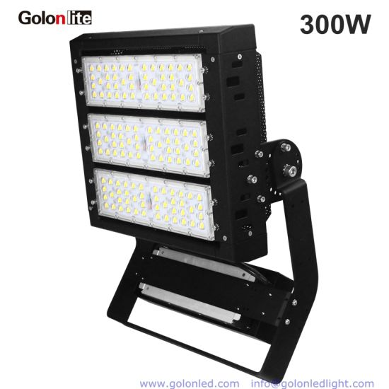 IP66 140lm/W Ce RoHS 25 40 Degree Outdoor LED Floodlight 300 Watts 300W LED  Flood Light