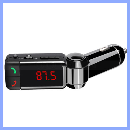 Bc06 Bluetooth Handsfree Car MP3 Player with FM Transmitter Aux Interface LED Display