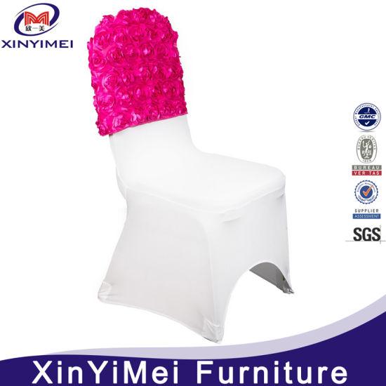 Hot Sale Cheap Fancy Wedding Rosette Chair Sash Cover