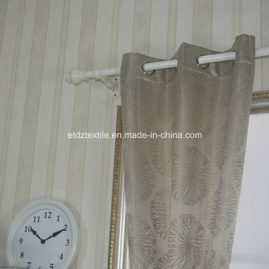 Well Sell Jacquaed Flower Pattern Curtain pictures & photos