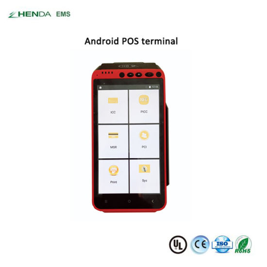 Touch Screen NFC/RFID Handheld Android POS Terminal