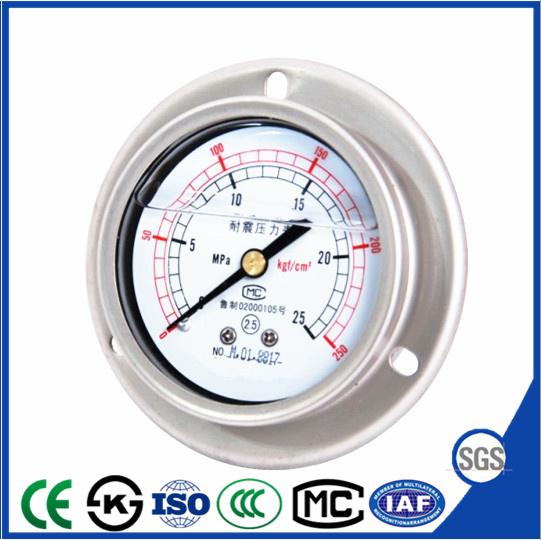 Vibration Proof Pressure Gauge of Instrument Manometer with Backward Fronge