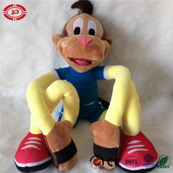 China Lazy Monkey Stretchkins Plush Soft For Kids Learning Toys