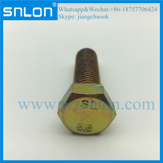 High Strength Hex Bolt Machine Screw Hardware pictures & photos