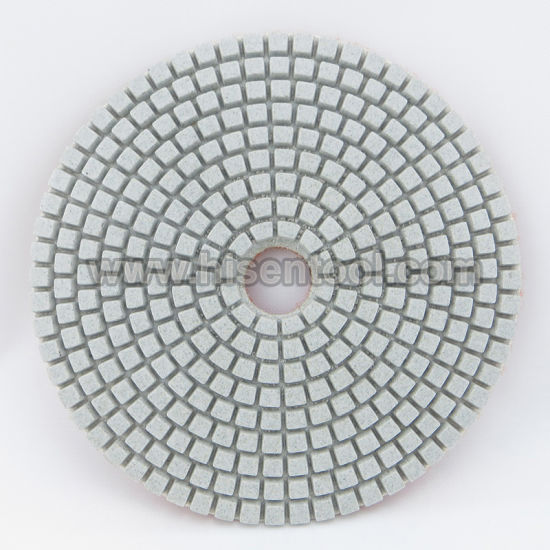 100mm White Polishing Pads for Engineer Stone pictures & photos