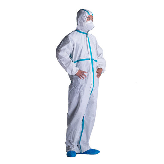 Non Woven Microporous Laminated Film Coverall Disposable Coverall Suit