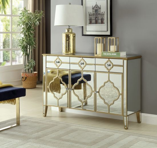 China Large Mirrored Buffet Cabinet Living Room Mirrored Cabinet Modern Furniture Luxury Sideboard China Living Room Cabinet Home Furniture
