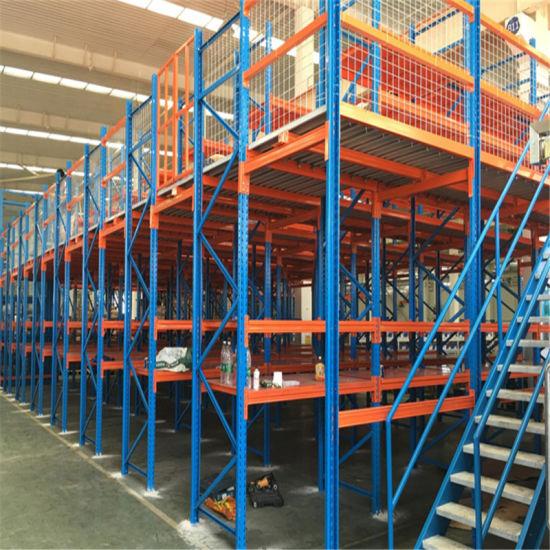 Selective Warehouse Storage Pallet Steel Mezzanine Racking / Storage Racking 2-3 Layers Steel Floor