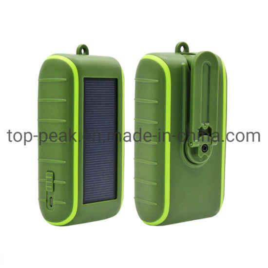 6000mAh 8000mAh 10000mAh 2000mAh Travel Charger Mobile Phone USB Charger Portable Battery Charger Power Supply Hand Crank Solar Portable Mobile Power Bank pictures & photos
