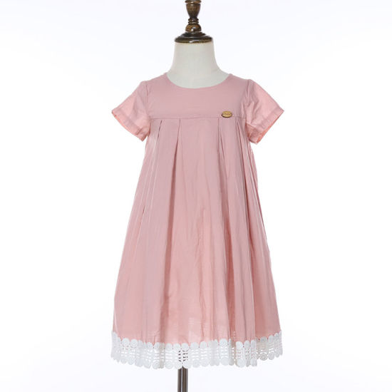 Wholesale Summer Clothing Fashion Girls'dresses Kids Cotton Casual Short Sleeve Little Girls Dresses