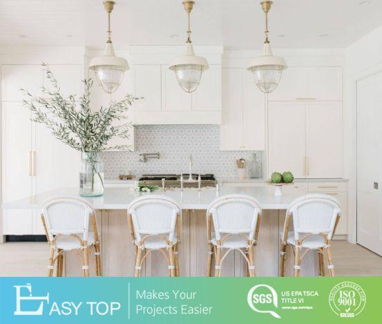 Modern Home Furniture MDF PVC Film Kitchen Design Dtc Hinge Door Kitchen Cabinet Foshan