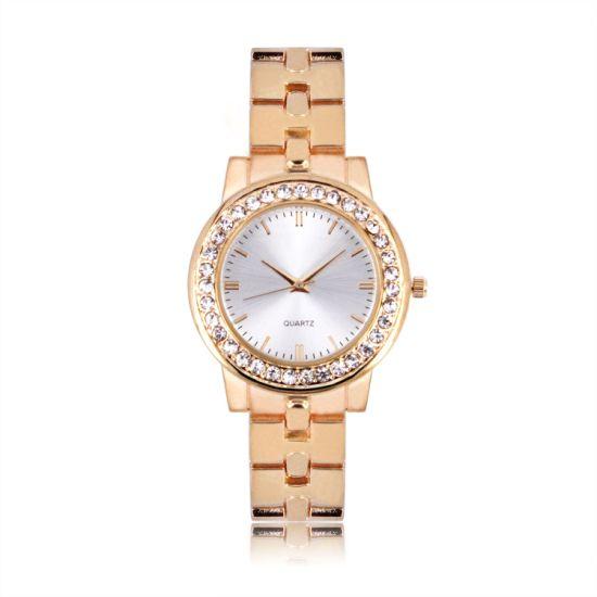 Lady Alloy Watch Simple Dials Waterproof Women Wristwatch Quartz Wholesales (JY-AL054)