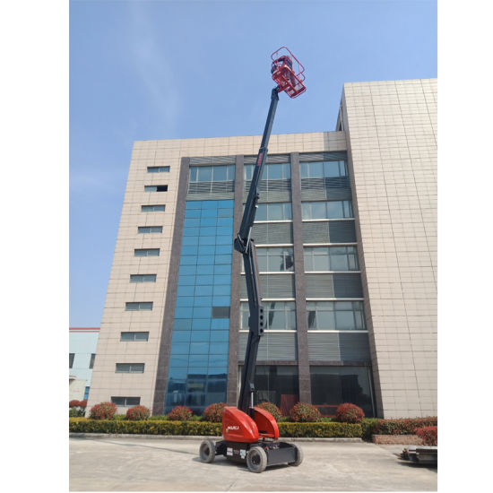 Self-Propelled Articulate Booms Hz160 Aerial Work Platform Max Lifting Height 16 M