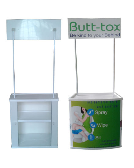 Folding Advertising Display Plastic Promotion Table for Supermarket