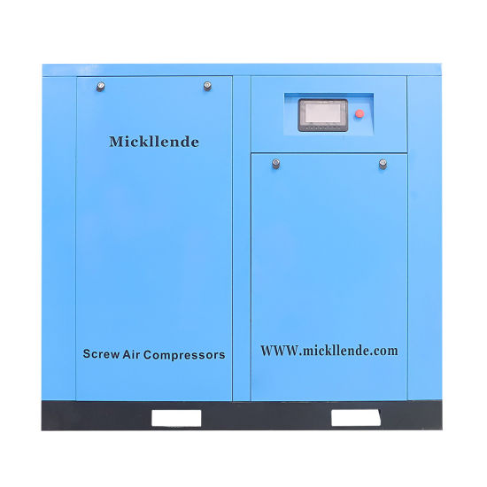 Mickllende Factory Supply High Quality and Lower Price for 5.5kw-630kw Oil Less Stationary Direct Driven Industry Rotary Twin Screw Air Compressor
