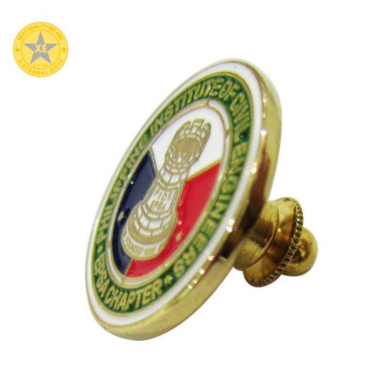 Promotional Souvenir Gift Coin Shape Name Enamel Lapel Pins